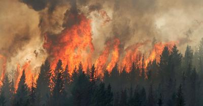 Smoke drifts from Canada wildfires
