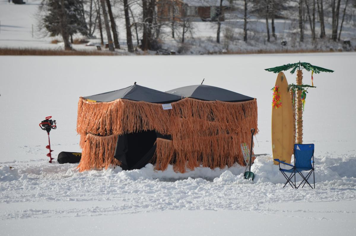 Making a splash: woman from Oregon takes grand prize at ice fishing festival