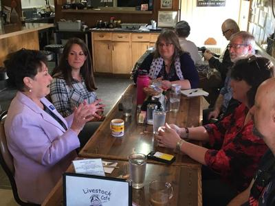 Democratic challenger for 4th Congressional District seat tours region