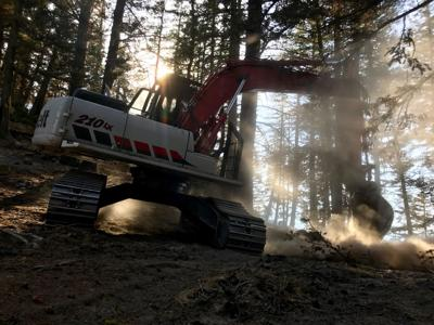Crescent Mountain fire fight winds down