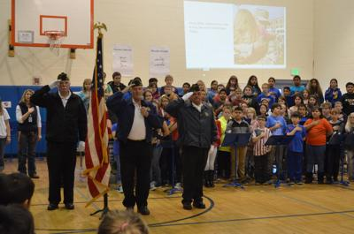 Veterans Day program: Music, treats and questions shared
