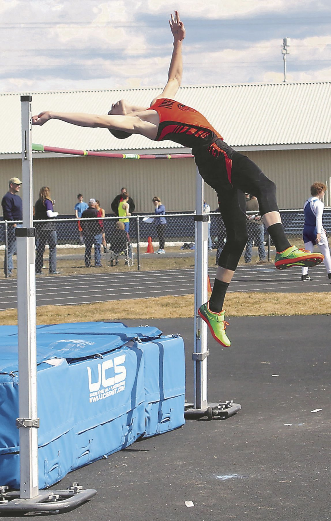 Taylor Connor high jumping