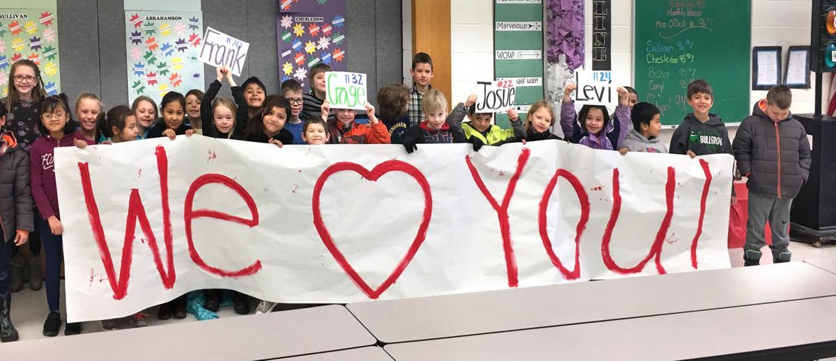 Virginia Grainger first-graders, right