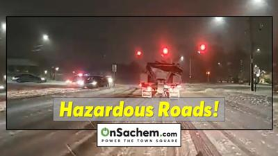 Checking out the road conditions across Sachem