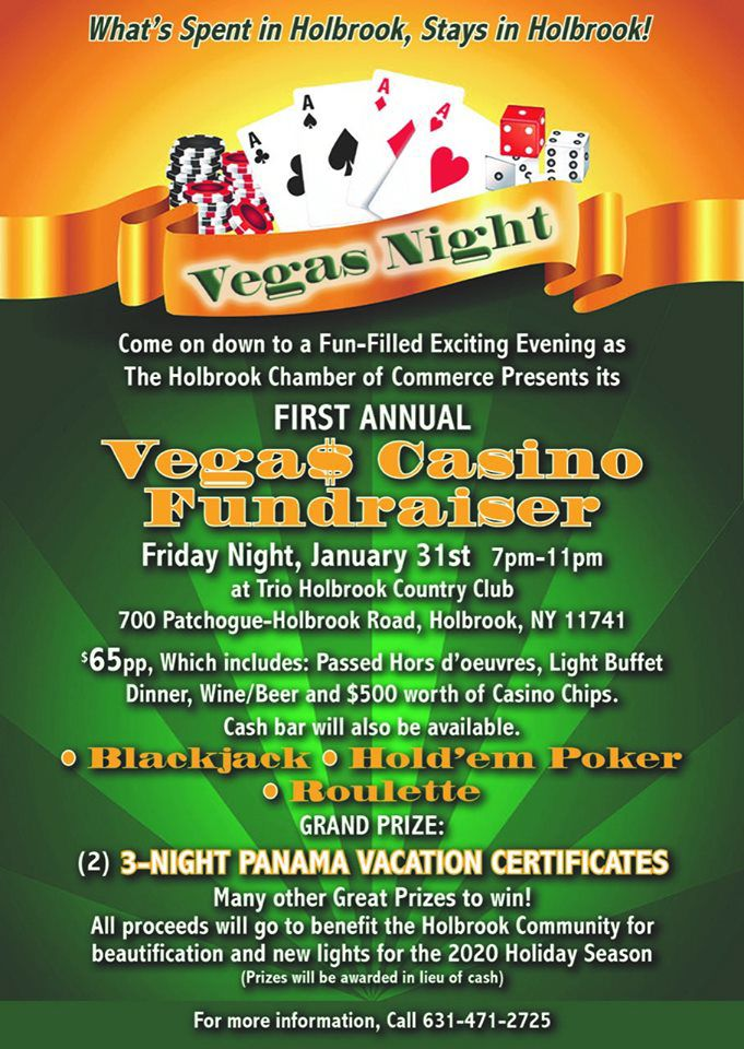 Holbrook Chamber's Vegas Casino Fundraiser to Benefit Community Beatification, Jan. 31 Flyer