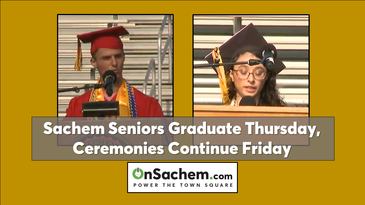 Sachem East and North graduations continue on Friday