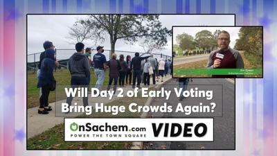 Will day two of early voting bring a long line again in Farmingville?
