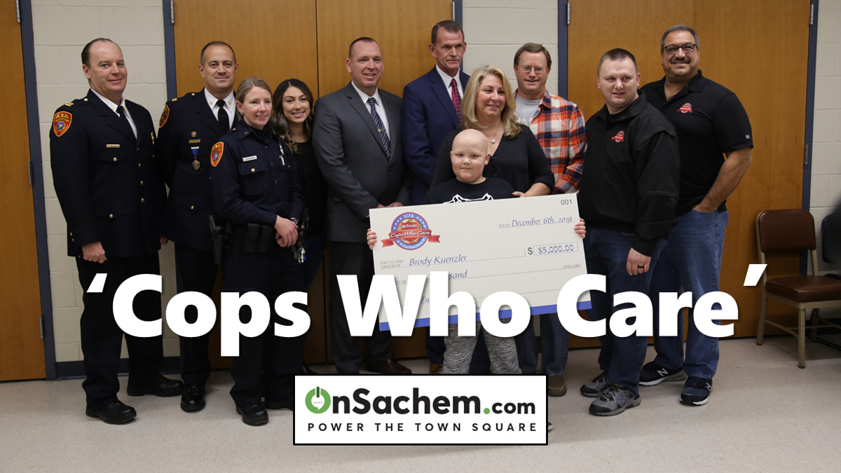 PICS: Holbrook Boy with a Rare Cancer Enjoys a Special Day with 'Cops Who Care'