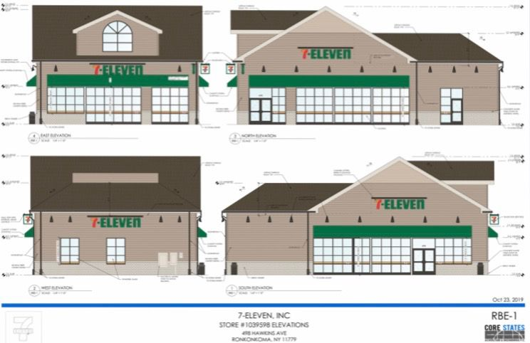 Rendering of Proposed 7-Eleven