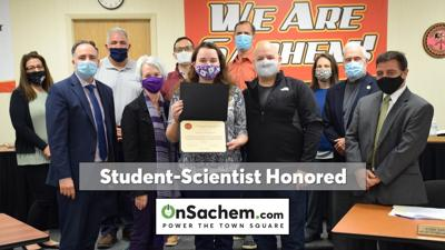 Sachem's Board of Ed recognizes exceptional student-scientist
