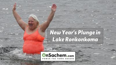Lake Ronkonkoma celebrates New Year's with first-ever polar bear plunge