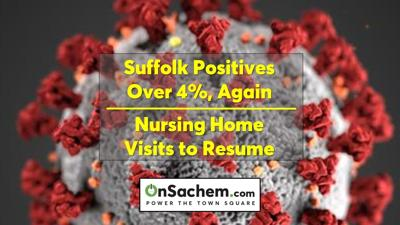 COVID-19 positives rise to 4.1% in Suffolk County, nursing home visits resume in New York state