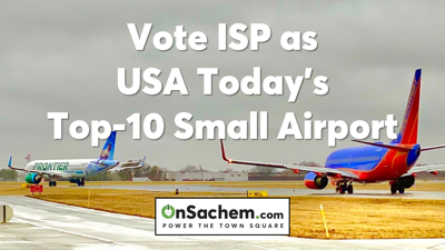 USA Today's 10 Best Nominates MacArthur Airport for Best Small Airport Award