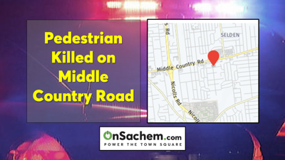 Pedestrian killed in crash on Middle Country Road in Selden