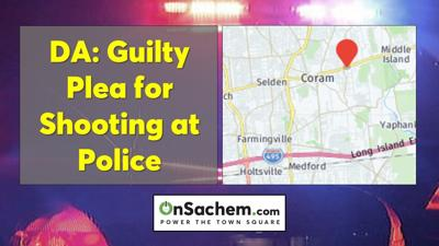 Guilty plea for Middle Island man who shot at police officer: DA