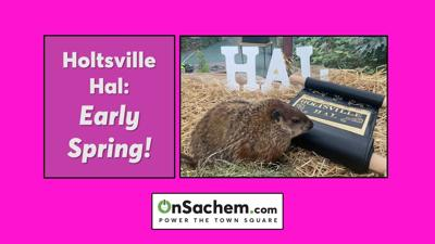 Holtsville Hal predicts an early spring in Town of Brookhaven