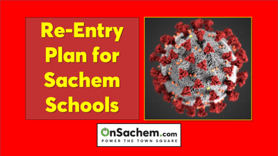 Sachem Schools announces re-entry plan for NYS review, Governor to make final decision about reopening schools