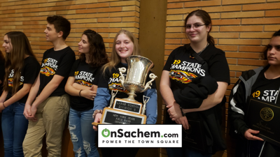 Sachem Arrows Marching Band Celebrated for Winning NYS Championship