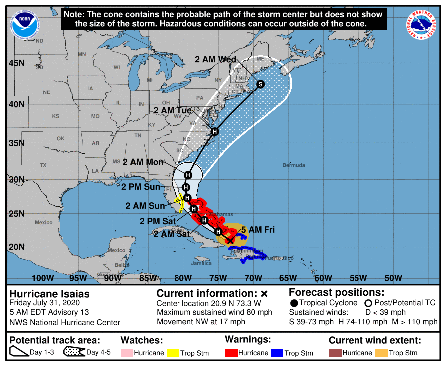 2020-07-31 - Hurricane Isaias - 1 - 085728_5day_cone_with_line_and_wind.png