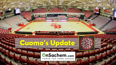 Gov. Cuomo's Saturday evening update: Temporary hospital at SBU, mental health pros needed, 500,000 N95 masks coming to LI, DMV moves to online only, and more