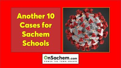 COVID-19 cases increase by 10 for Sachem Schools