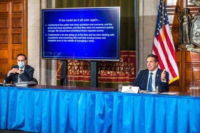 NY Gov. Cuomo: 'We made a mistake' when prioritizing nursing home death information