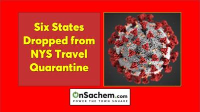 NY's self-quarantine mandate lifted for six states, Puerto Rico added