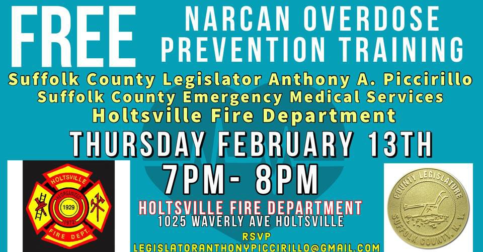 Free Narcan Overdose Prevention Training and Take-home Kit