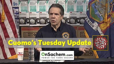 Gov. Cuomo's Tuesday evening update: Rate of virus spread increases, urgent need for ventilators, new supply distributions