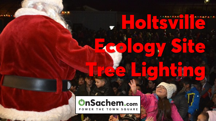 Annual Brookhaven Town Tree Lighting at Holtsville Ecology Site, Santa's Arrival