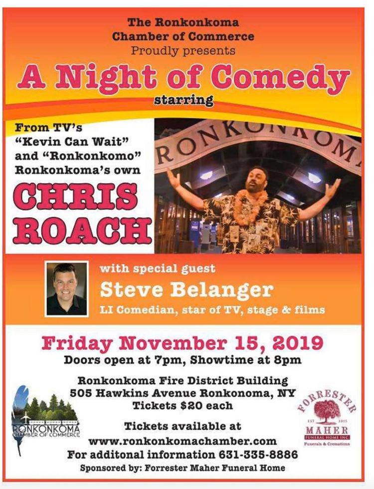 Ronkonkoma Chamber of Commerce Presents 'A Night of Comedy,' Nov. 15