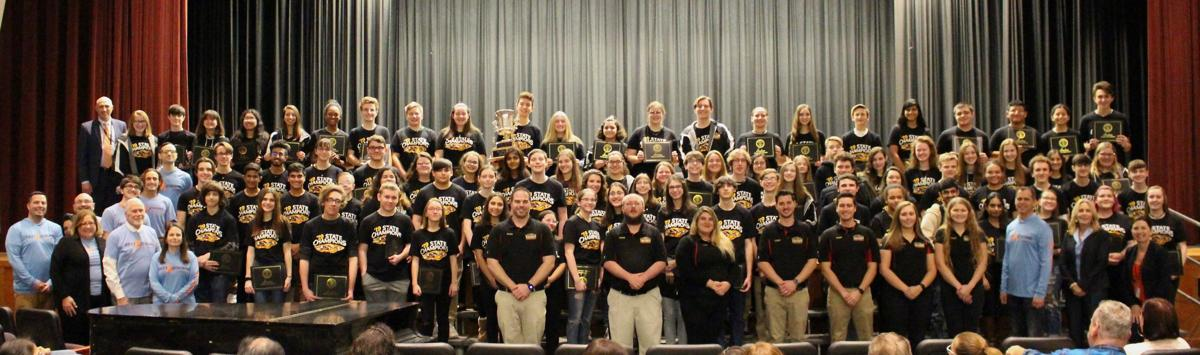 Sachem Arrows Marching Band Celebrated at the Board of Education Meeting - 1