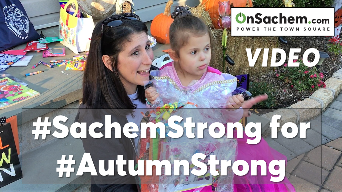 VIDEO: #SachemStrong Holds Huge Halloween Surprise for Holtsville Girl, 4, Living with Cancer