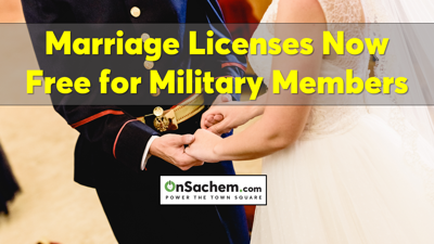 Islip Town Now Offers Free Marriage Licenses for Active Military