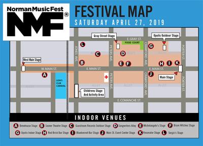 Norman Music Fest map 2019
