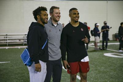 Kyler Murray, Lincoln Riley, Jalen Hurts