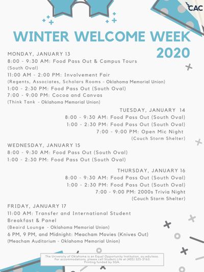 Winter Welcome Week 2020
