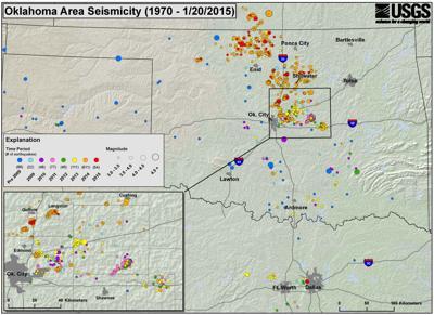 Oklahoma area seismicity