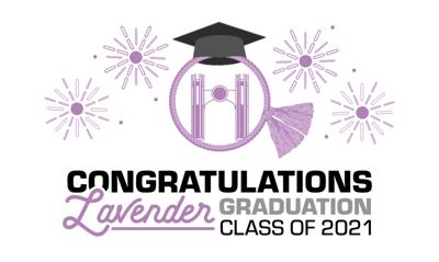 Lavender Graduation Flyer