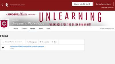Unlearning Workshops