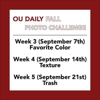 OU Daily Fall Photo Challenge Weeks 3-5