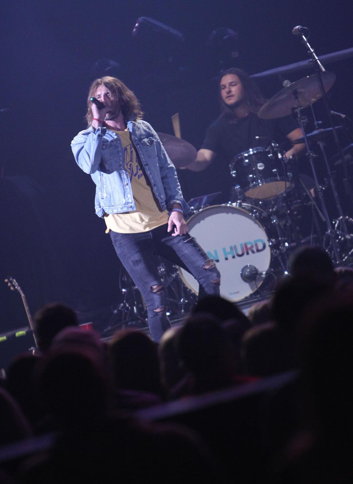 Hurd on stage