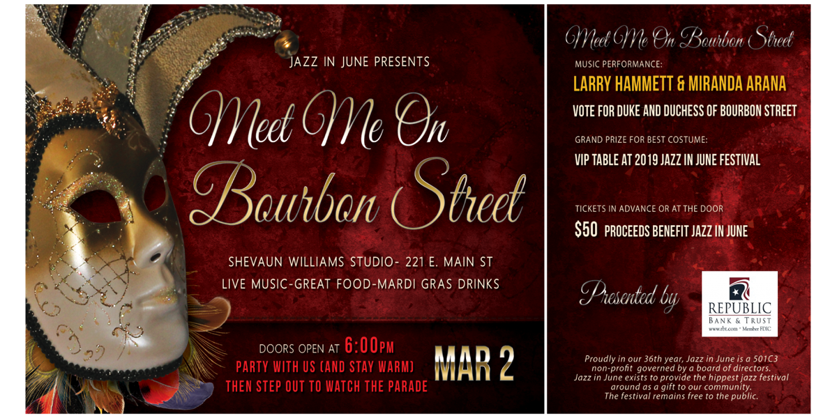Jazz in June to hold Meet Me On Bourbon Street fundraising