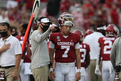 Ou Football Spencer Rattler Leaves Game Against Texas With Injury Tanner Mordecai Takes Over Sports Oudaily Com