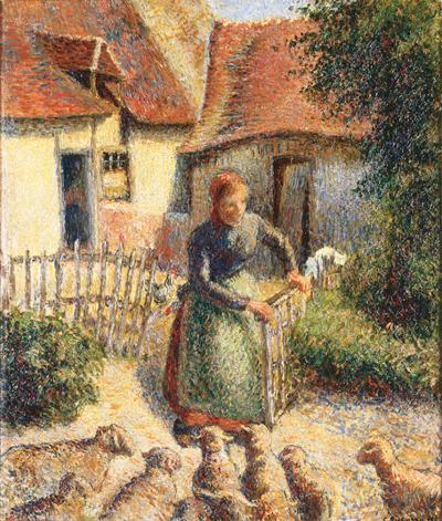 """Bergère rentrant des moutons (Shepherdess Bringing in Sheep)"""