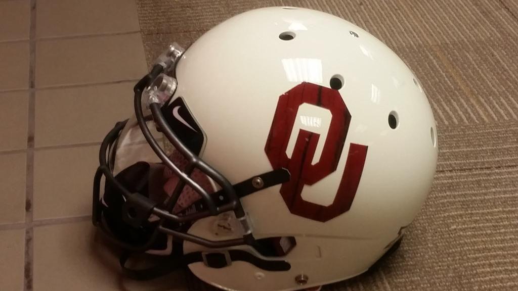 White Oklahoma helmet
