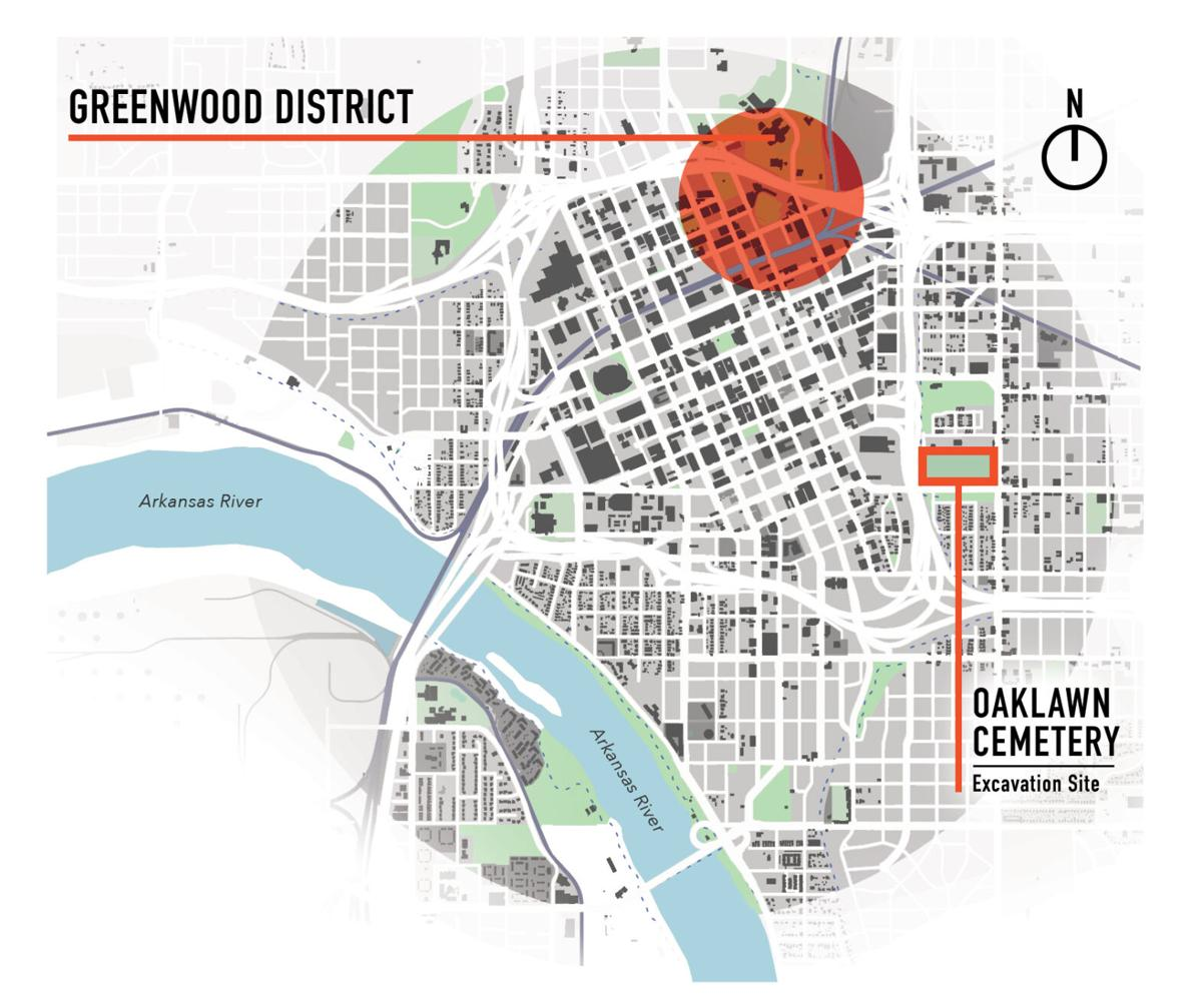 Greenwood and Oaklawn map