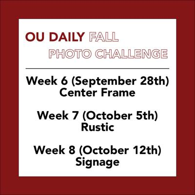 OU Daily Fall Photo Challenge Weeks 6-8