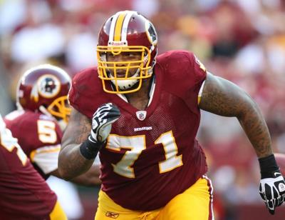 Trent Williams with the Washington Redskins