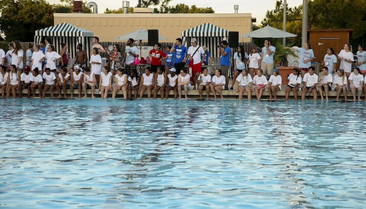Norman 39 s only outdoor pool closed fourth of july event for Pool party daily show